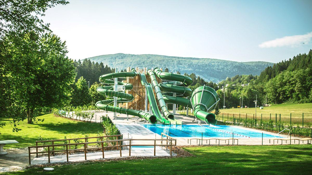 Dolenjske Toplice Spa with new water slides