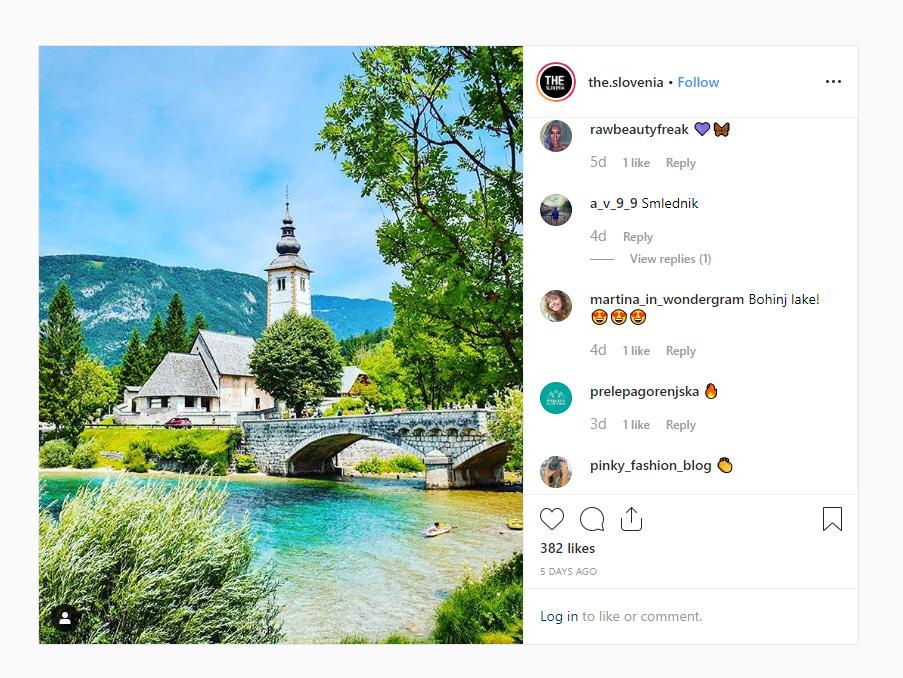 THE SLOVENIA Photo of the week 34 2019 Bohinj Lake