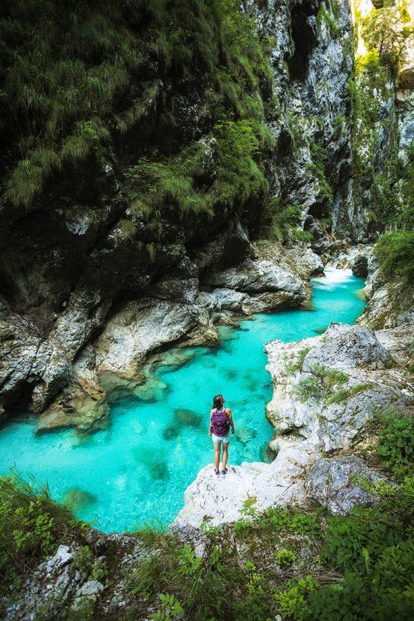 Soca river Tolmin Gorges