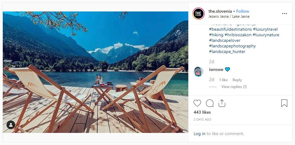 THE SLOVENIA Photo of the week 39 2019 lake jasna kranjska gora