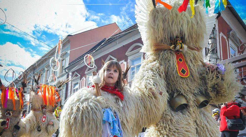 scare away winter with Kurents in Ptuj