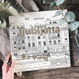 Urban coloring book Ljubljana